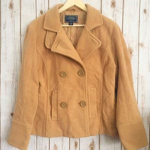 American Eagle tan pea coat